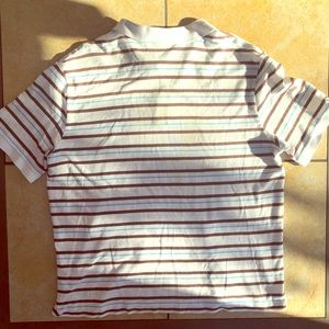 LACOSTE Men's Polo Size 8 (Large) Striped